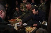 الأسد في جوبر لشكر الجيش على حربه للإرهاب (فيديو)