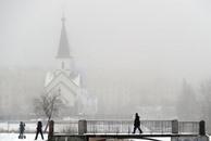 ساعة من أشعة الشمس في ديسمبر لمدينة سان بطرسبرغ