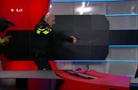 السيطرة على مسلح في التلفزيون الوطني الهولندي (فيديو)