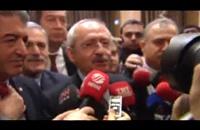 رشق زعيم المعارضة التركية بحذاء (فيديو)