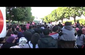 """تونسيون يحيون الذّكرى الخامسة لثورتهم في شارع """"بورقبية"""""""
