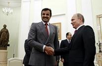بوتين يهدي صقرا لأمير قطر خلال زيارته لموسكو (فيديو)