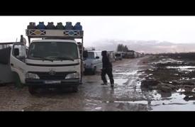 """العاصفة """"أورسولا"""" تزيد من معاناة اللاجئين السوريين في لبنان"""