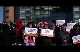 """لاجئون فلسطينيون يعتصمون أمام """"الأسكوا"""" في بيروت"""