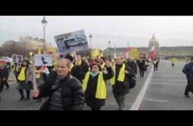 احتجاجات مئات المتظاهرين في باريس على زيارة روحاني