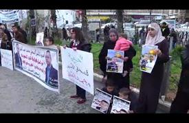 وقفة برام الله تضامنا مع صحفي مضرب عن الطعام في سجون الاحتلال
