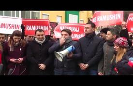 """مظاهرات احتجاجية في كوسوفو وألبانيا تطالب بإطلاق سراح """"هارديناج"""""""