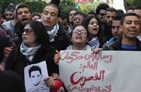 احتجاجا.. تونسيون يهتفون للمرزوقي أمام السبسي (فيديو)