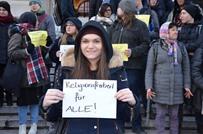 مظاهرة ضد منع الحجاب في الدوائر الرسمية في فيينا