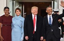 هدية ترامب تربك أوباما قبل التقاط الصورة التذكارية (شاهد)