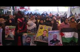 وقفة في غزة تضامنا مع المعتقلين في السجون الإسرائيلية