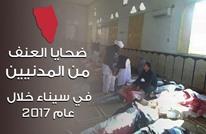 ضحايا العنف من المدنيين في سيناء خلال عام 2017 (إنفوغرافيك)