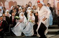"""إقامة """"أكبر عرس جماعي"""" للاجئين الفلسطينيين بلبنان (شاهد)"""