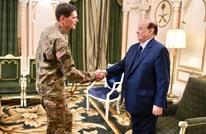 الرئيس اليمني يلتقي مسؤولا عسكريا أمريكيا بالرياض (صور )