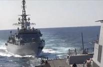 """سفينة حربية روسية """"تتحرش"""" بأخرى أمريكية ببحر العرب (شاهد)"""