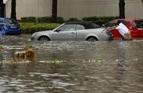 """""""ليس ساحلا بل وسط المدينة"""".. أمطار تغرق شوارع دبي (شاهد)"""