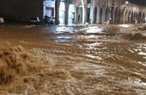 """""""عمّان تغرق"""".. أردنيون يتندرون بعد مداهمة السيول للعاصمة"""