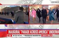 موقف طريف لمذيعة مع بايدن في طريقه للبيت الأبيض (فيديو)