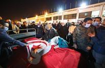 استقبال حزين لجثمان محرزية العبيدي بمطار تونس (شاهد)