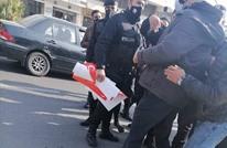 """فض اعتصام لحملة """"غاز العدو احتلال"""" بعمّان واعتقال منظميها"""