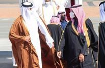ابن سلمان يصطحب أمير قطر في جولة بسيارته (صورة)