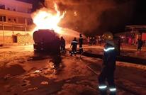 اندلاع حريق ضخم داخل محطة وقود في ليبيا (شاهد)