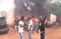 مسيحيون يحرقون مسجدا في أفريقيا الوسطى