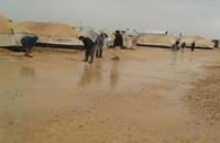 السوريون يكابدون حدّة الشتاء بمخيم الزعتري بالأردن