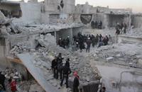 23 قتيلا بإدلب واللاذقية ببراميل النظام المتفجرة