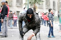 بعد تهديدات ساويرس.. البلاك بلوك يظهرون مجدداً
