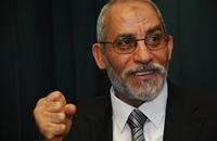 بديع للإخوان: لا يدفعكم ترشح السيسي للعنف أو اليأس