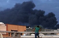 طائرات حفتر تقصف قوات تابعة لوزارة دفاع حكومة الوفاق الليبية
