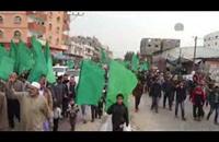 """مسيرة """"المائة ألف"""" بغزة في ذكرى تأسيس حماس ال27 (فيديو)"""