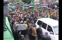 عرض عسكري فى غزة احتفالاً بذكرى تأسيس حماس (فيديو)