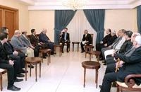 الأسد يهاجم حماس أمام وفد لفتح وحماس ترد بالرفض