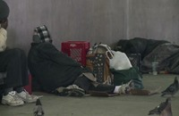 أطفال وعائلات مشردة في شوارع واشنطن (فيديو)