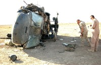 ثلاثة جرحى في تحطم مروحية أميركية في الكويت