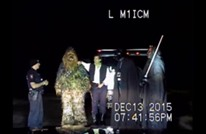 """دورية أمريكية توقف سيارة تقودها """"كائنات فضائية"""" (فيديو)"""