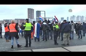 مظاهرة لحركة بيغيدا المعادية للإسلام في روتردام الهولندية