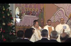 """كنيسة """"العائلة المقدسة"""" تقيم قداسا بمناسبة عيد الميلاد بغزة"""