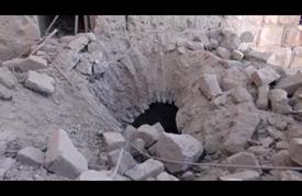 """تضرر أجزاء من """"بصرى الشام"""" الأثرية في قصف للنظام"""