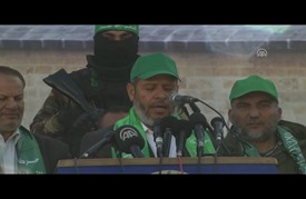 """""""حماس"""" تُنظّم مسيرة شمالي غزة في الذكرى الـ29 لانطلاقتها"""