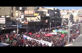 مسيرة في عمّان تندّد بالمجازر الإرهابية في حلب