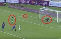 نجم الأهلي السعودي يسجل هدفا ساحرا في شباك برشلونة (فيديو)