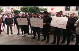 وقفة تضامنية مع أهالي حلب في نابلس