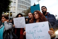 وقفة في بيروت ضد المجازر في حلب