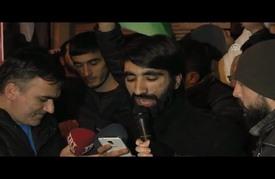 أتراك وسوريون يتظاهرون أمام القنصلية الإيرانية بإسطنبول