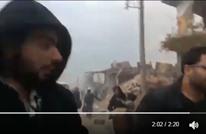 لحظة إطلاق النار على المدنيين في حلب أثناء خروجهم (شاهد)