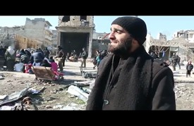 """من خلال النشيد ودّع """"أبو مصطفى"""" حلب (شاهد)"""