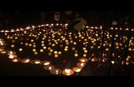 وقفة في بروكسل بالشموع للمطالبة بتأمين إجلاء المدنيين بحلب